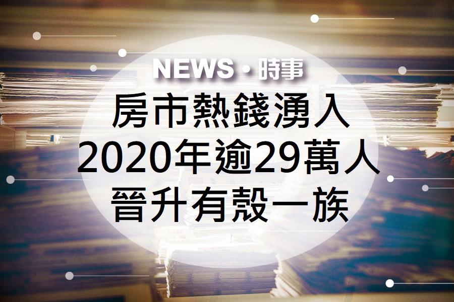 2020房市熱錢湧入,逾29萬人晉升有殼一族